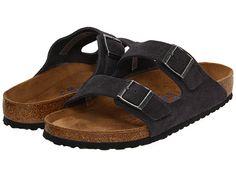 Birkenstock Arizona Soft Footbed - Suede (Unisex) Velvet Grey Suede - Zappos.com Free Shipping BOTH Ways