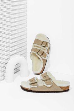 Birkenstock Arizona Shearling Suede Sandals