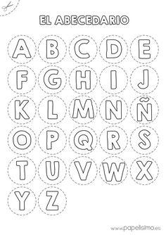 Abecedario para colorear y recortar | http://papelisimo.es/abecedario-para-colorear-y-recortar/