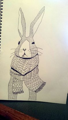 Part 3 - completed Rabbit in a scarve