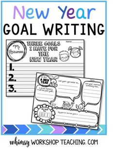 Writing Templates For The New Year (Free) - Whimsy Workshop Teaching