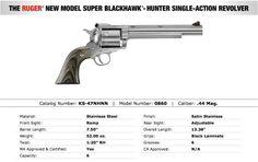 """Ruger Super Blackhawk 44 Mag 7.5"""" SS 0860 - NIB : Revolvers at GunBroker.com"""