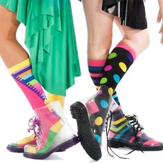 Madmia socks and clear boots .Check us out www.madmia.com Rubber Rain Boots, Socks, Legs, Check, Fashion, Moda, Fashion Styles, Sock, Stockings