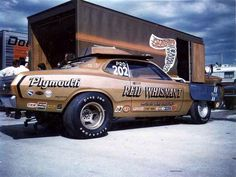 old race car haulers - Page 40 - Yellow Bullet Forums Nhra Pro Stock, Old School Style, Plymouth Muscle Cars, Plymouth Duster, Nhra Drag Racing, And So It Begins, Old Race Cars, Sweet Cars, Vintage Race Car