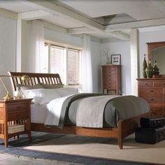 Modern Shaker Sleigh Bed