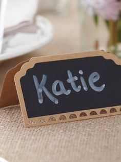 Vintage place cards with chalkboard effect sized available in packs of 10 Wedding Name Tags, Wedding Place Cards, Vintage Place Cards, South Africa, Chalkboard, Place Card Holders, Places, Shop, Chalkboards