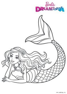 Barbie Coloring Pages, Mermaid Coloring Pages, Easy Coloring Pages, Disney Coloring Pages, Coloring For Kids, Coloring Books, Barbie Drawing, Disney Princess Pictures, Art Drawings Sketches Simple