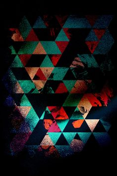 Graphic Triangle Geometric Pattern by SpaceCrash on Etsy