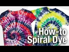 The Official Store for Tulip Tie-dye Products. Learn how to tie dye with our easy instructions and various techniques. Create all your favorite tie-dye designs with 1 kit. Cool Tie Dye Designs, Tulip Tie Dye, Diy Tie Dye Shirts, Tie Dye Crafts, Spiral Tie Dye, Tie Dye Techniques, How To Tie Dye, Tie Dye Patterns, Old T Shirts
