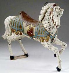 ca 1875 - 1900 Carousel Horse; Heyn (Frederick)  Jumper, Outside Row, 56 inch.