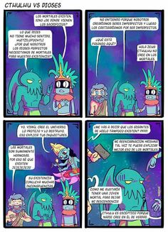 Cthulhu, Alternative Comics, Aztec Art, Mundo Comic, Funny Art, Mythology, Lol, Culture, Cartoon
