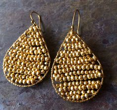 Gold beads wire wrapped around 2 gold filled by VivianRDesigns