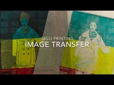 Resist Printing with Gelli Arts® Plates, Books, and Magazines - YouTube