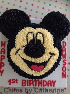 Mickey Mouse cake for little Dawson! Happy 1st birthday!!