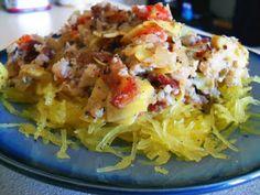 "paleo: so easy, a grad student can do it.: Mediterranean Crab and Veggie ""Spaghetti"""