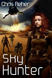 http://bookbarbarian.com/sky-hunter-by-chris-reher-4/ - Air Command pilot Nova Whiteside is assigned to a remote outpost to guard the construction of a tethered orbiter, Skyranch Twelve, against rebel sabotage. The difference between the well-ordered Union air fields and this dusty garrison is made painfully clear when she runs afoul a brutal commander of ground troops.  When she is trapped behind enemy lines in a bloody uprising she meets Djari, a civilian whose trust in t