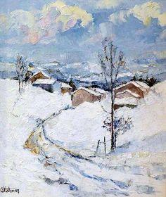 Clodine COLOMER Ardèche sous la neige    #Auvergne-Rhône-Alpes #Ardèche