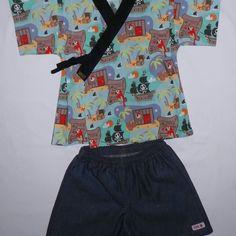 Jinbei Suika kid Kimono by SUIKA Conjunto quimono da SUIKA