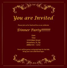 In honor of party invitation templates dinner party invitation free graduation invitation templates for word card invitation ideas free invitation card templates for word stopboris Gallery