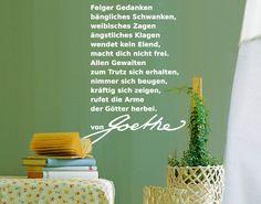 WandTattoo No.UL457 von Goethe III sprüche Einfarbig