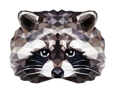 Creative Vector, Raccoon, Geometric, Animals, and Illustration image ideas & inspiration on Designspiration Geometric Type, Geometric Drawing, Geometric Animal, Geometric Patterns, Triangle Art, Illustration Sketches, Graphic Illustrations, Portrait Illustration, Digital Illustration