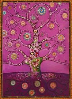 like a Klimt painting, and with mandalas inside the tree