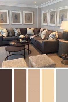 Brown Living Room Color Schemes Fresh 19 Color Palettes for Beautiful Home Interiordesignshome Modern Living Room Colors, Living Room Decor Brown Couch, Living Room Color Schemes, Paint Colors For Living Room, Cozy Living Rooms, New Living Room, Modern Room, Living Room Designs, Colour Schemes