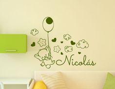 Vinilos infantiles nombre bebé personalizados para la decoración de paredes en habitaciones infantiles