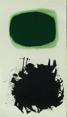 Adolph Gottlieb  American, 1903-1974  Blast III, 1958  Signed ADOLPH GOTTLIEB, dated 1958 and inscribed with title and measurements on the reverse  Oil on canvas  69 x 40 inches (175.3 x 101.6 cm)   Provenance:  [Paul Kantor] to Gifford Phillips, Santa Monica, California, 1959