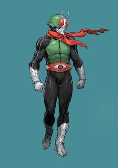 Kamen Rider by Jihoon Park on ArtStation. Character Inspiration, Character Art, Character Design, Drawing Reference Poses, Art Reference, Power Rangers, Robot Cartoon, Cosmic Art, Alien Concept Art