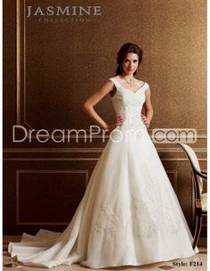 wedding dresses for broad shouldered women   ... neck with Empire Waistline and A line Skirt Bridal Dress WD-0021 $214