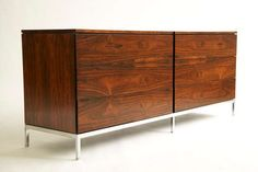 Florence Knoll Rosewood Dresser | From a unique collection of antique and modern dressers at https://www.1stdibs.com/furniture/storage-case-pieces/dressers/