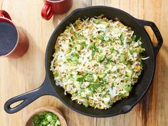 Sunny's Migas Verdes Recipe from Food Network Mexican Dishes, Mexican Food Recipes, Ethnic Recipes, Breakfast Dishes, Breakfast Recipes, Breakfast Ideas, Breakfast Club, Brunch Ideas, Breakfast Casserole