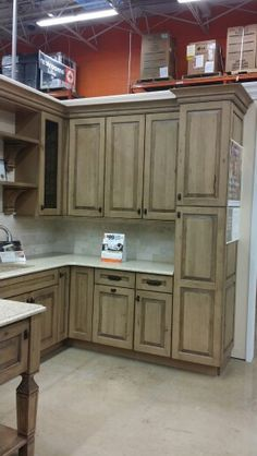 New kitchen . cabinet