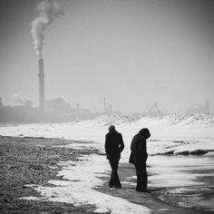 Portraits of Favorite Songs: Simon and Garfunkel's Hazy Shade of Winter. Michigan City Indiana.