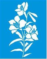 Stencil de Flores do Campo 17 x 21cm - STM 317