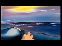 The Joy of Painting S02E09 Black And White Seascape - YouTube