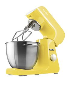Sencor STM 46 YL stand mixer It is the color of a thousand smiling suns scattered across the meadows. It brings joy, laughter, change and a feeling of relaxation. It releases your hidden aspirations, brings a sense of immediacy and, most of all, increases your appetite. It is playful and fun. I have a heart of steel, I'm driven by a reliable 1000W motor, and your wish is my command.