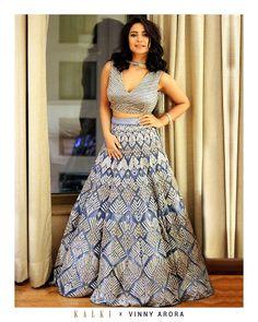 3d79365e3055 Neeti Mohan in Kalki Royal blue Net embroidered lehenga and blouse only on  kalki