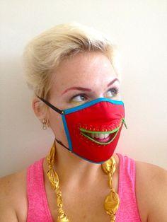 $26 handmade zipper dust mask : essential for Burning Man!