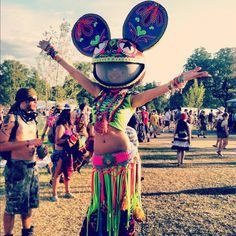Tomorrowland...love the deadmau5 head. Not so much the rest of the outfit