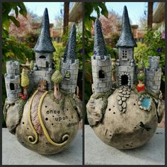 "Hand built clay castle sphere ""Once upon a dream"" 2015"