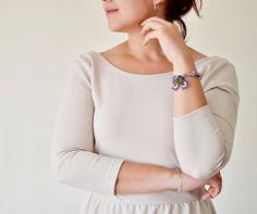 Purple Natural Stone Handmade Bracelet Amethyst by ReddApple
