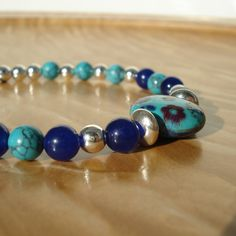 Hey, I found this really awesome Etsy listing at https://www.etsy.com/listing/223638360/turquoise-bracelet-gemstone-and-silver