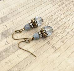 Blue Earrings Turquoise Earrings Victorian by SmockandStone