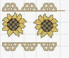 sunflowers cross stich