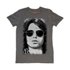 The Doors Summer Glare T-Shirt features the iconic Jim Morrison's classic portrait with the band's logo.