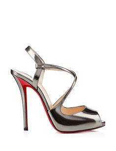 #CHRISTIANLOUBOUTIN Cross Street 120 mm High Heel Sandals