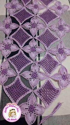 agulhas magicas e artes: Caminho de Mesa de Crochê - Meus trabalhos