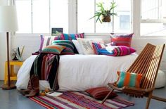 Mexican interior design deco Ideas-colored pattern decorative pillow